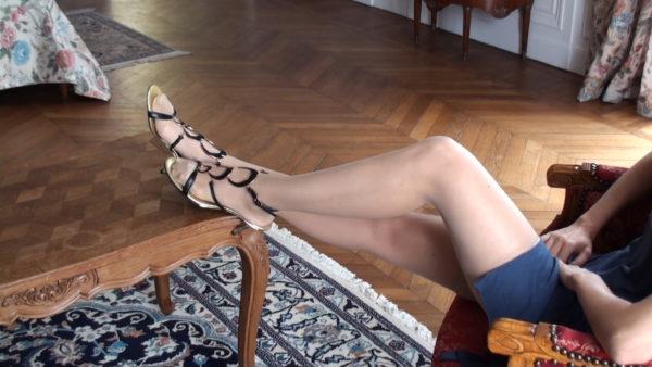Sexy satin stockings & the morning light